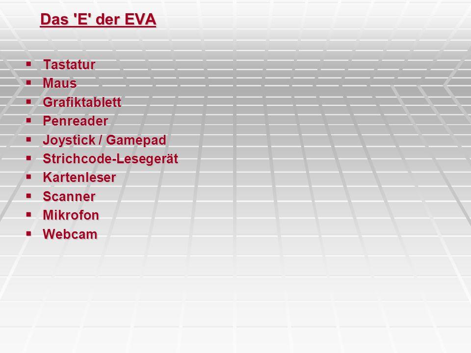 Das E der EVA Tastatur Maus Grafiktablett Penreader
