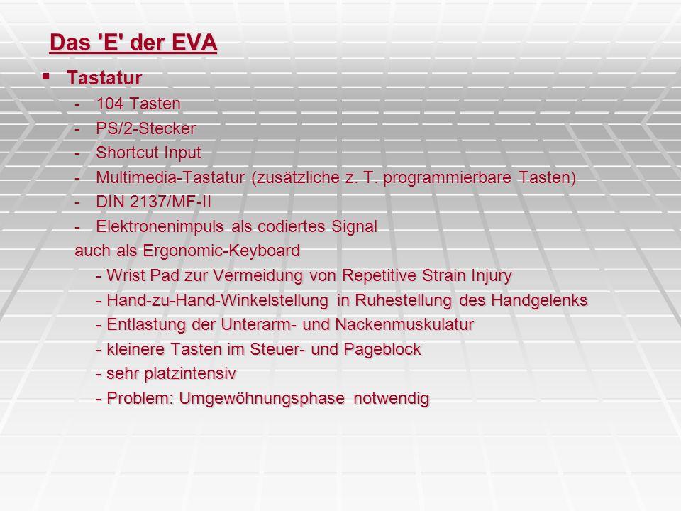 Das E der EVA Tastatur 104 Tasten PS/2-Stecker Shortcut Input