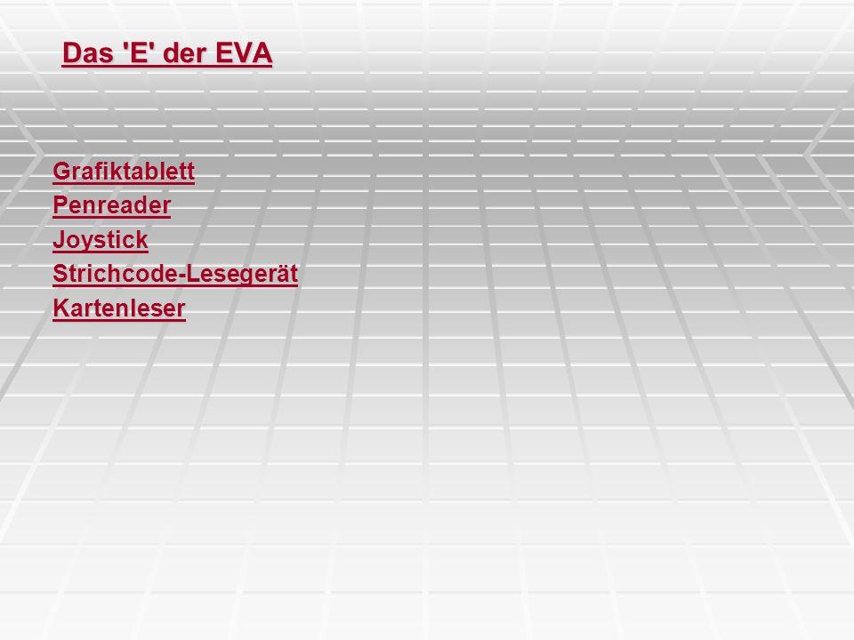 Das E der EVA Grafiktablett Penreader Joystick Strichcode-Lesegerät