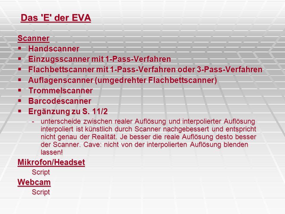 Das E der EVA Scanner Handscanner