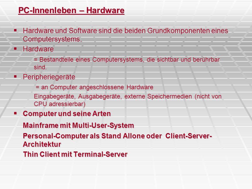 PC-Innenleben – Hardware