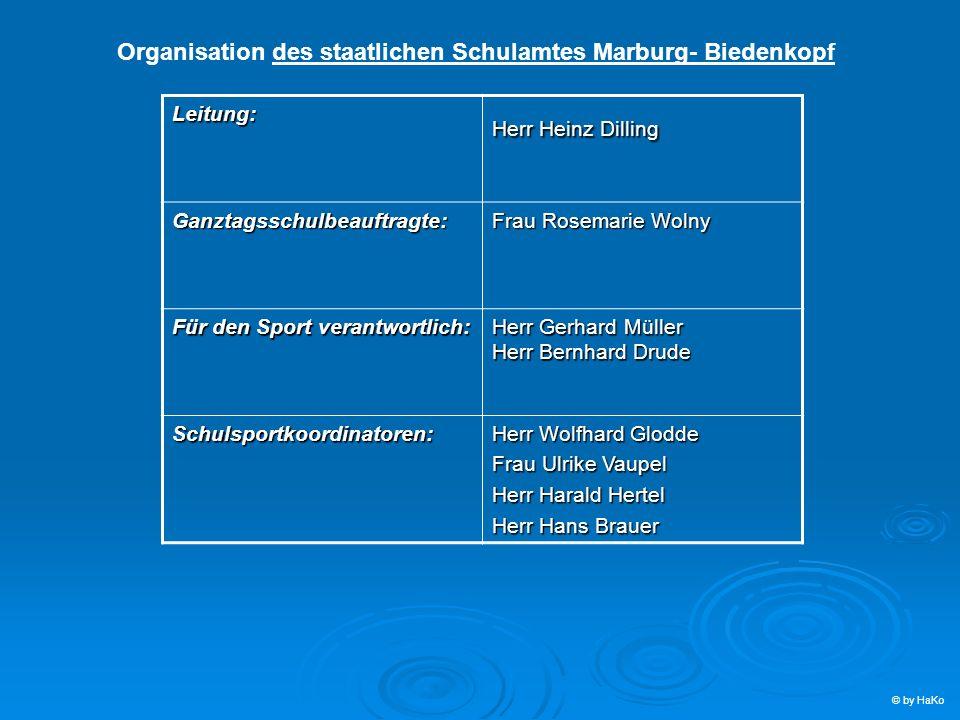 Organisation des staatlichen Schulamtes Marburg- Biedenkopf