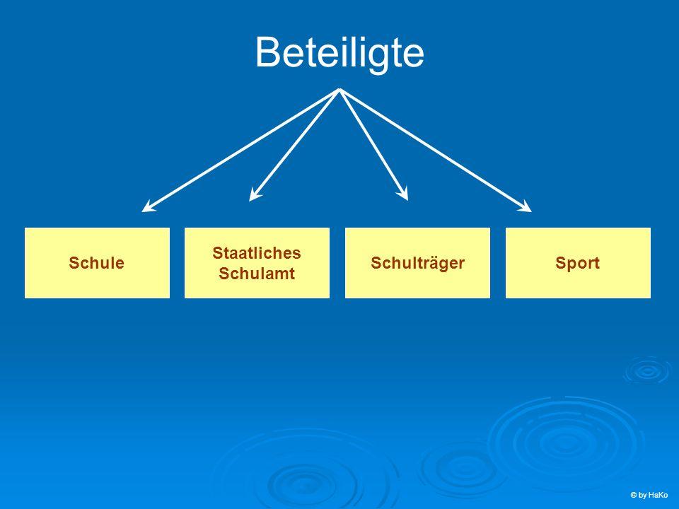 Beteiligte Schule Staatliches Schulamt Schulträger Sport © by HaKo