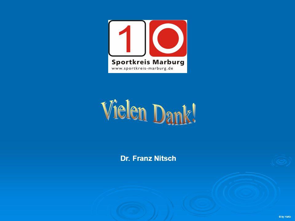 Vielen Dank! Ende Dr. Franz Nitsch © by HaKo