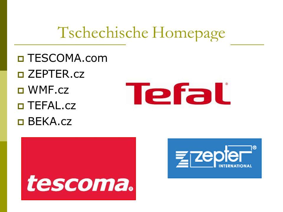 Tschechische Homepage