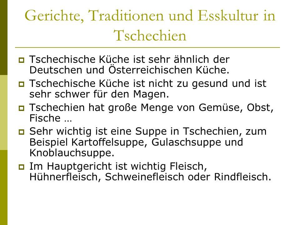 Gerichte, Traditionen und Esskultur in Tschechien