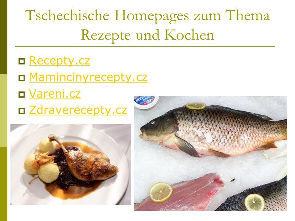 Tschechische Homepages zum Thema Rezepte und Kochen