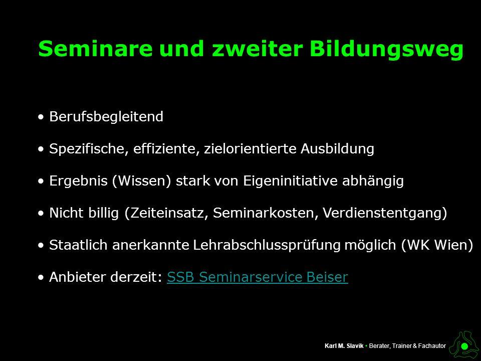 Seminare und zweiter Bildungsweg