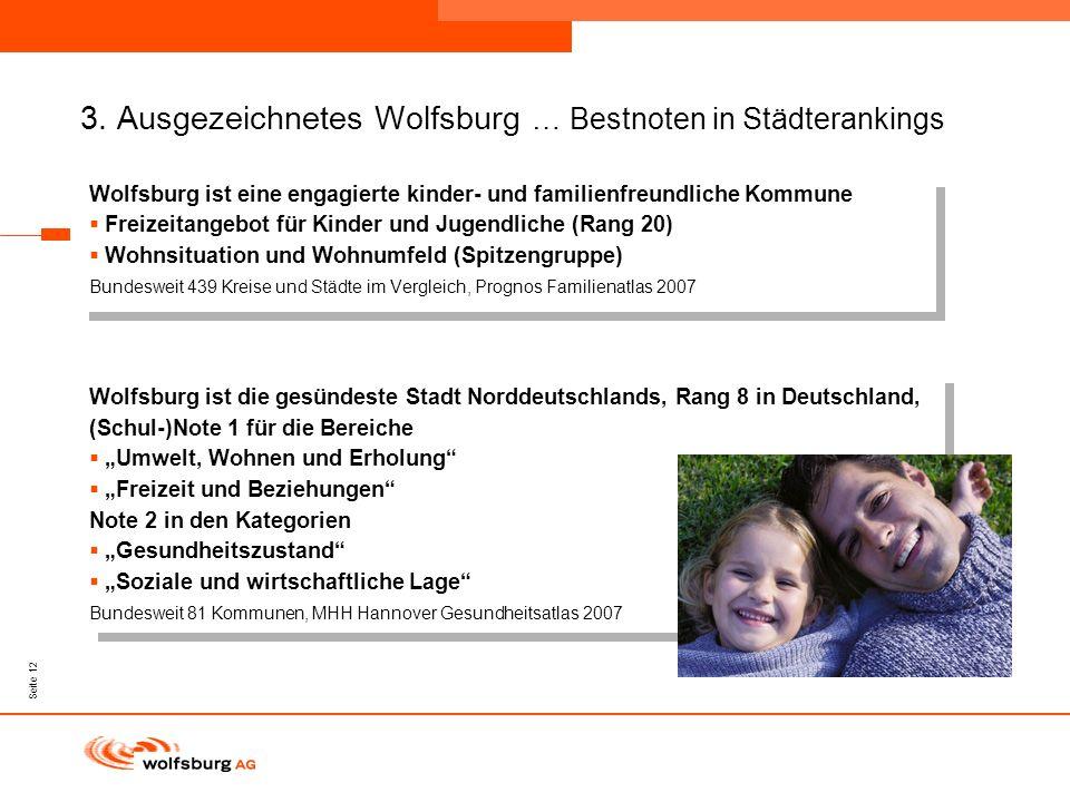 3. Ausgezeichnetes Wolfsburg … Bestnoten in Städterankings