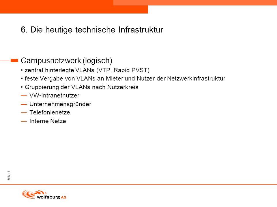 6. Die heutige technische Infrastruktur