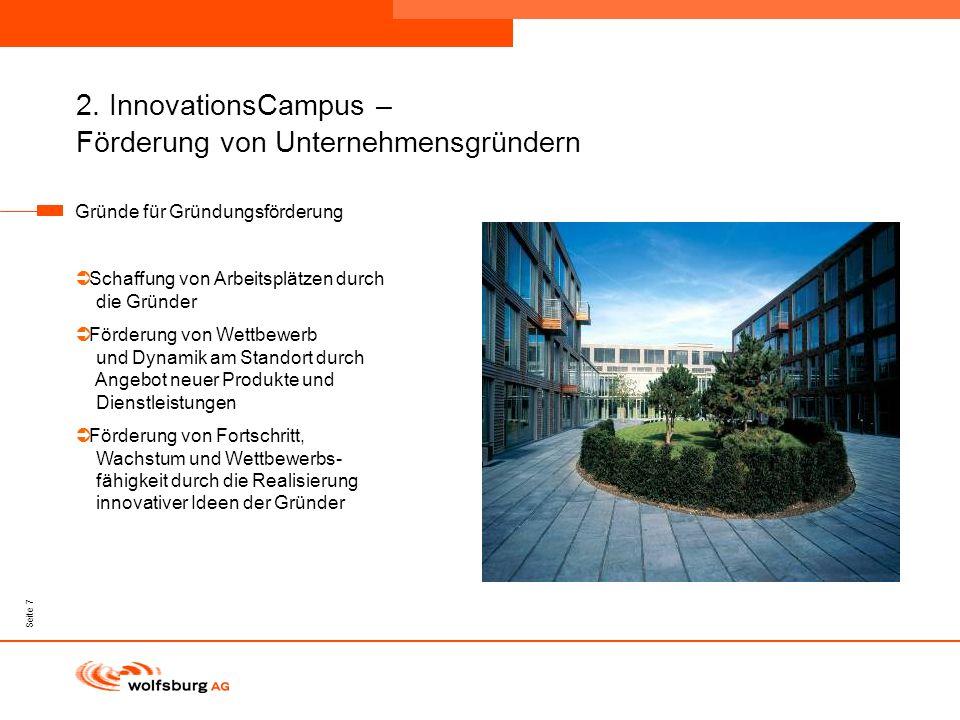2. InnovationsCampus – Förderung von Unternehmensgründern