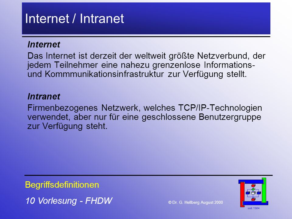 Internet / Intranet Internet