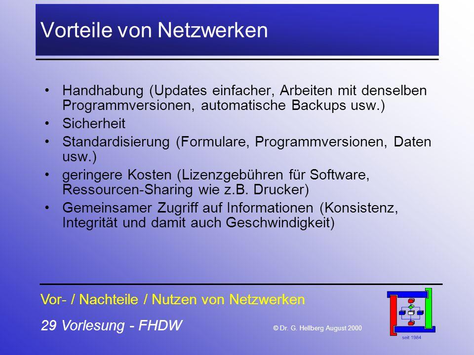 Vorteile von Netzwerken
