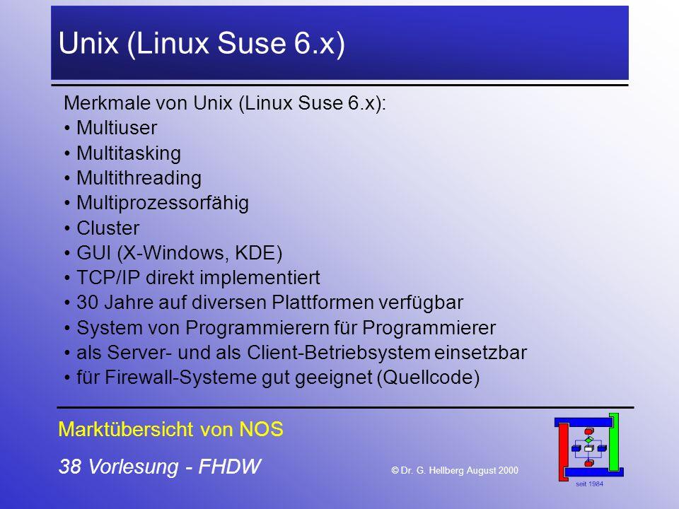 Unix (Linux Suse 6.x) Marktübersicht von NOS