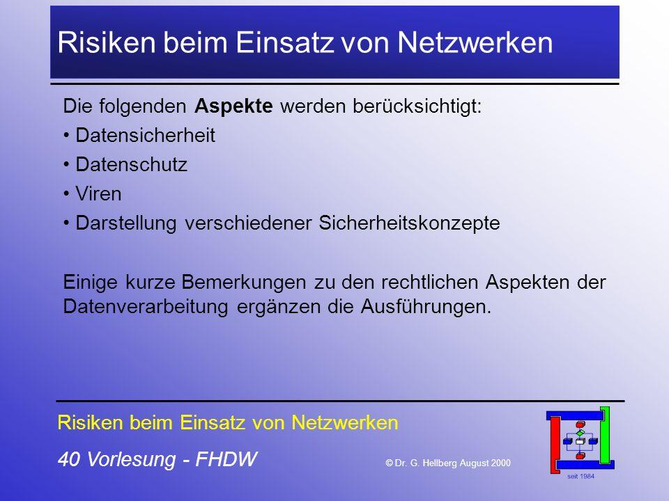 Risiken beim Einsatz von Netzwerken