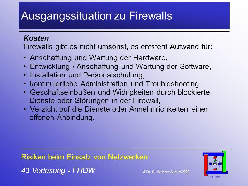 Ausgangssituation zu Firewalls