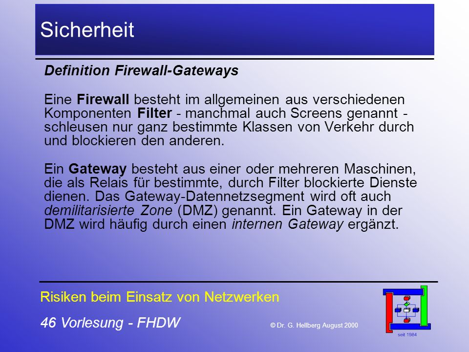 Sicherheit Definition Firewall-Gateways