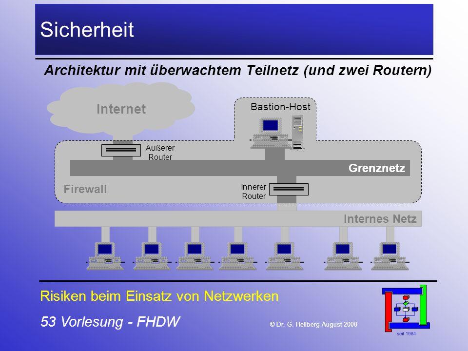 Sicherheit Architektur mit überwachtem Teilnetz (und zwei Routern)