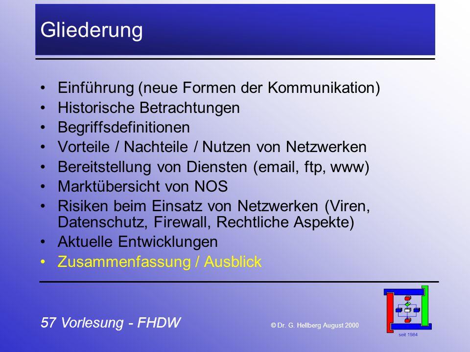 Gliederung Einführung (neue Formen der Kommunikation)