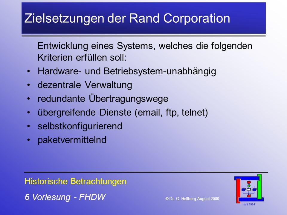 Zielsetzungen der Rand Corporation