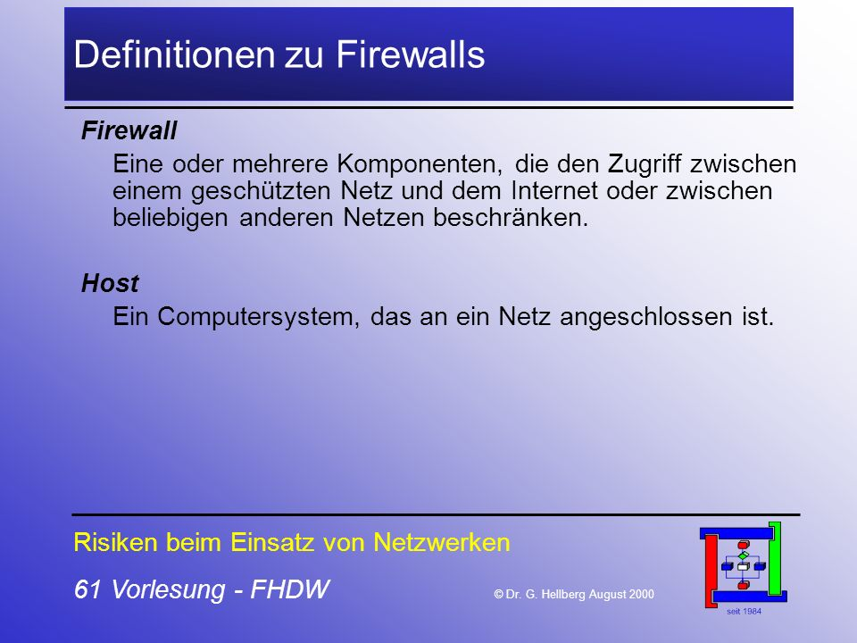 Definitionen zu Firewalls