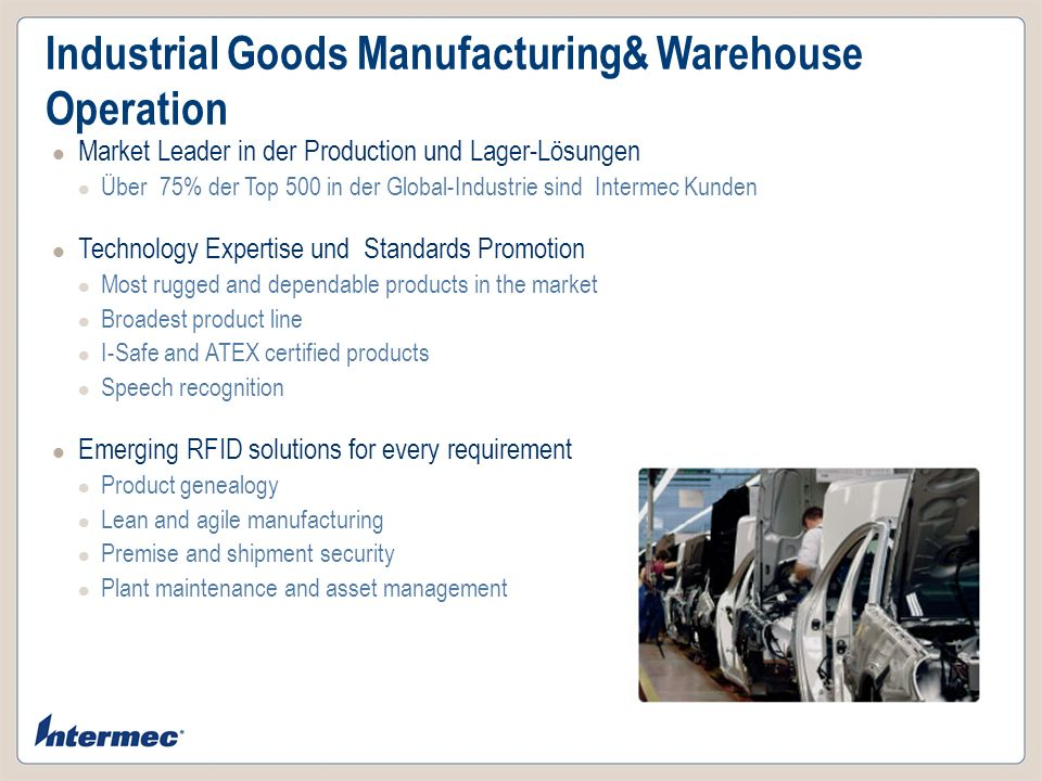 Industrial Goods Manufacturing& Warehouse Operation