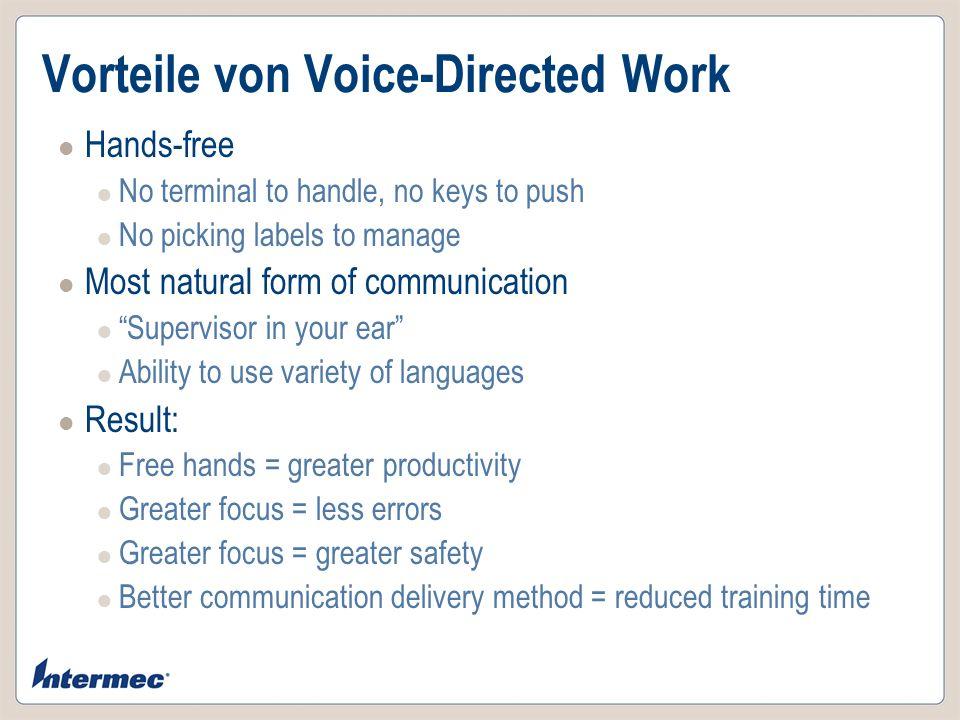 Vorteile von Voice-Directed Work