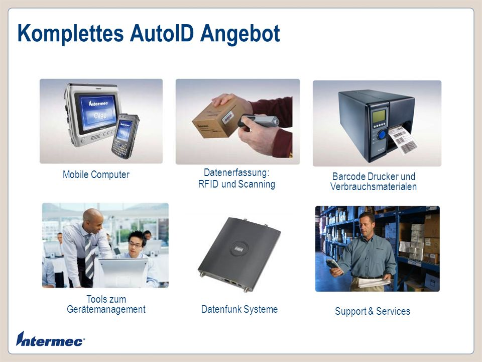 Komplettes AutoID Angebot
