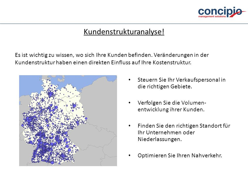 Kundenstrukturanalyse!