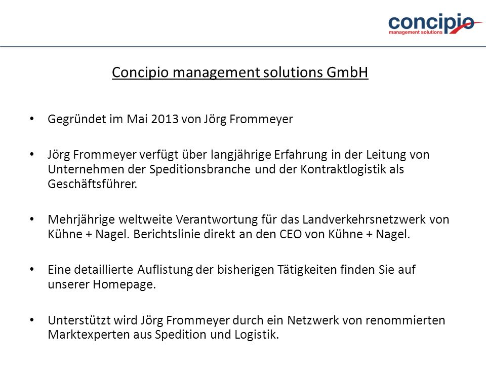 Concipio management solutions GmbH