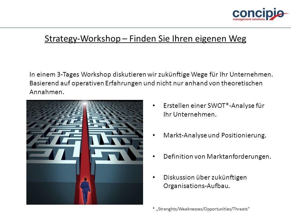 Strategy-Workshop – Finden Sie Ihren eigenen Weg