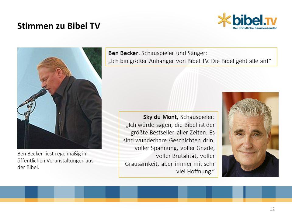 Stimmen zu Bibel TV Ben Becker, Schauspieler und Sänger: