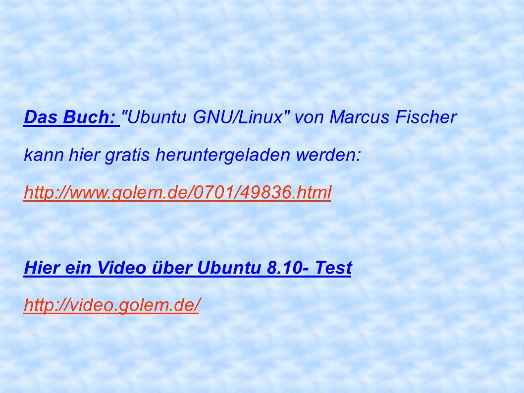 Das Buch: Ubuntu GNU/Linux von Marcus Fischer