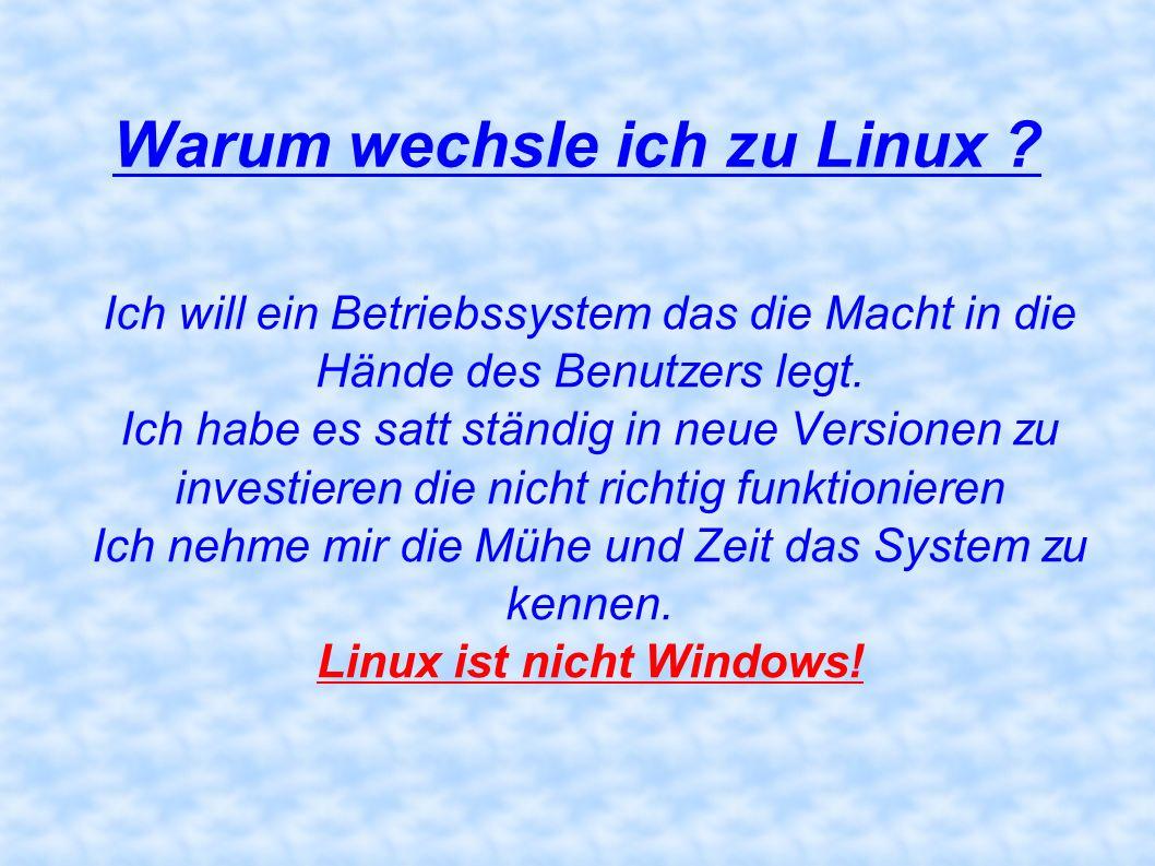 Warum wechsle ich zu Linux