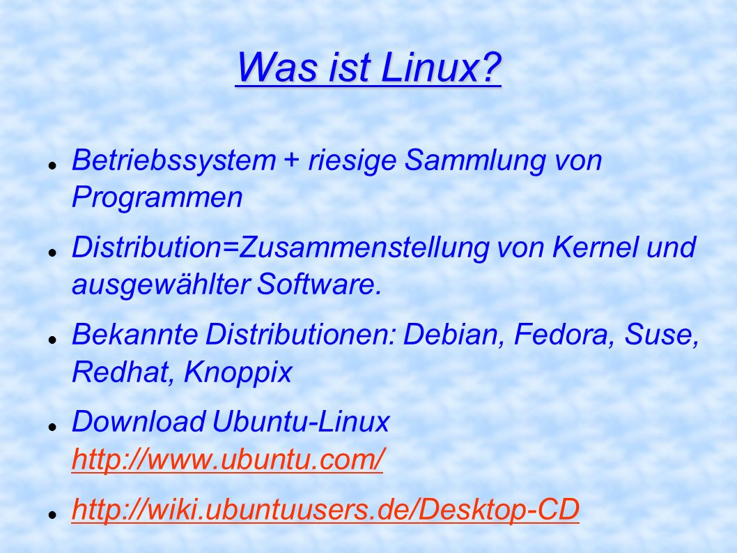 Was ist Linux Betriebssystem + riesige Sammlung von Programmen