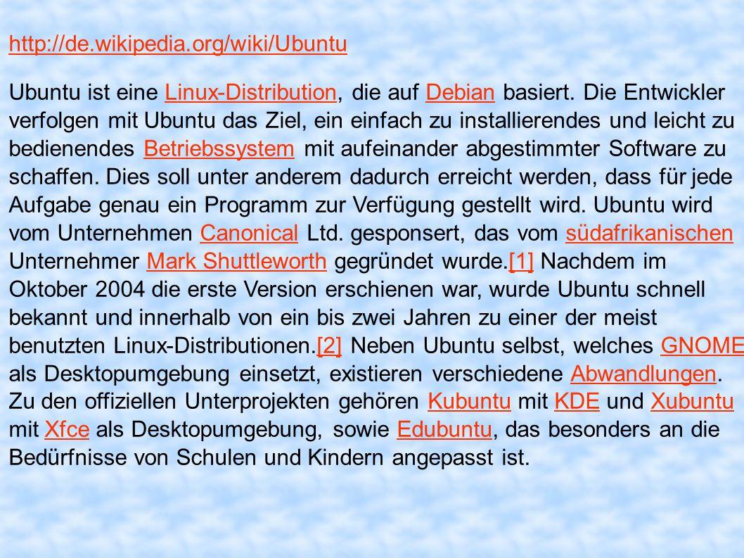 http://de.wikipedia.org/wiki/Ubuntu