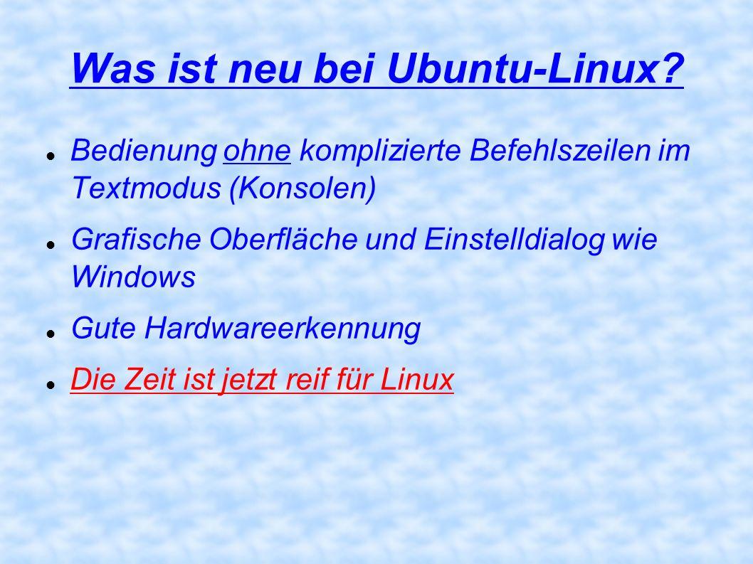 Was ist neu bei Ubuntu-Linux