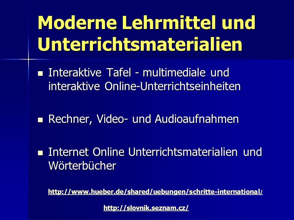 Moderne Lehrmittel und Unterrichtsmaterialien