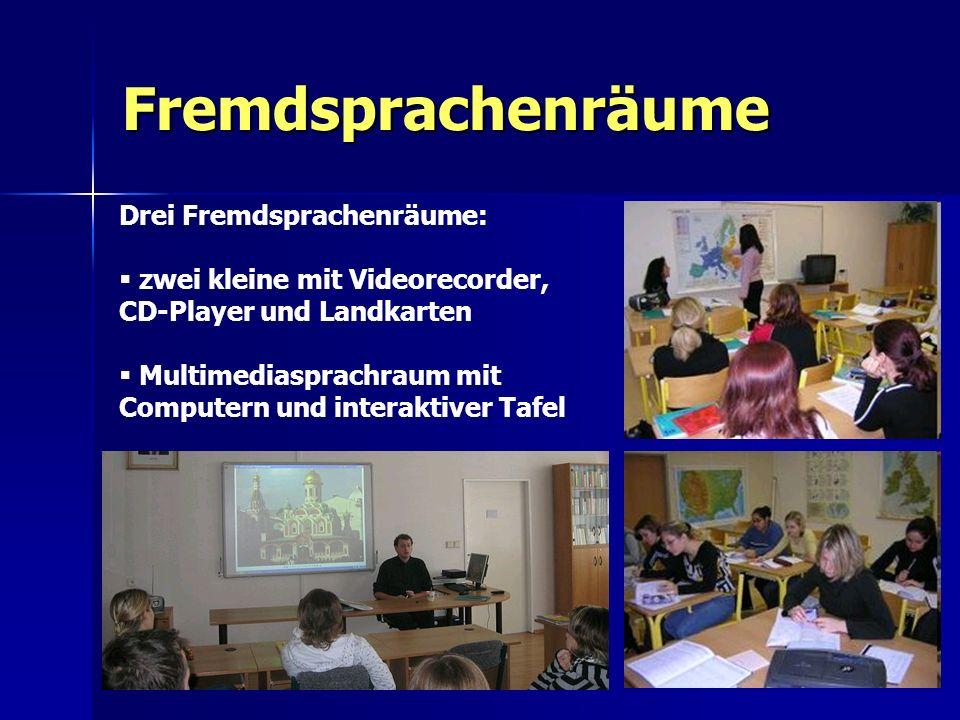 Fremdsprachenräume Drei Fremdsprachenräume: