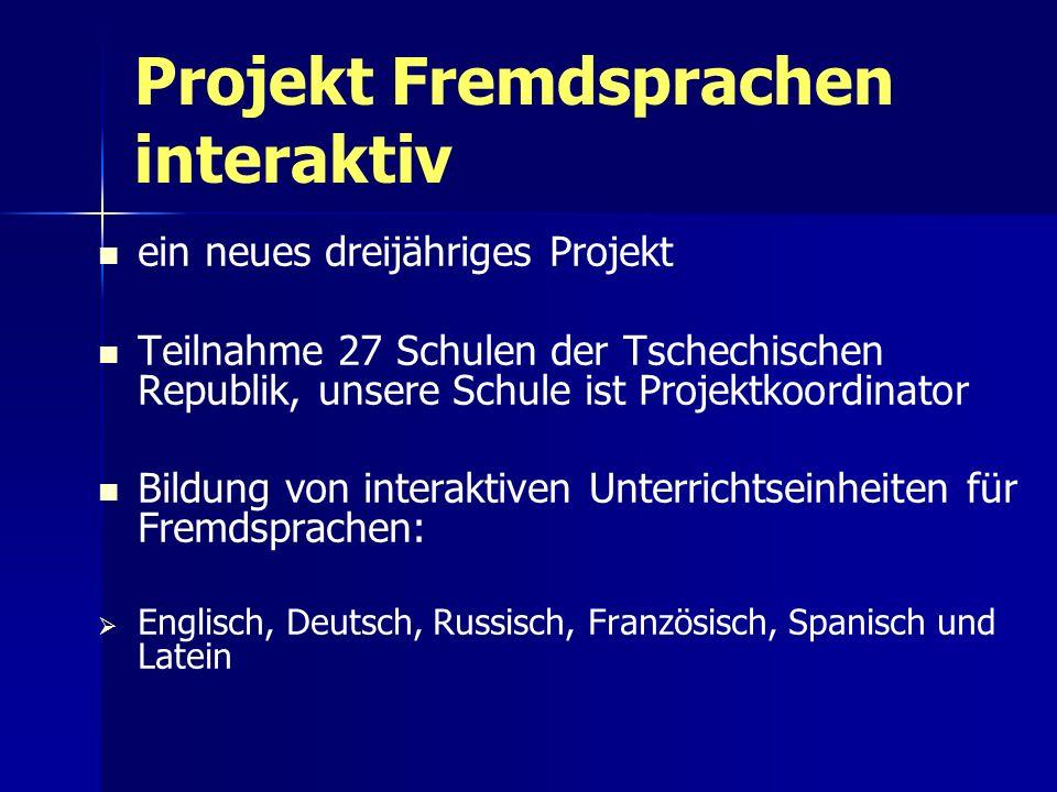 Projekt Fremdsprachen interaktiv