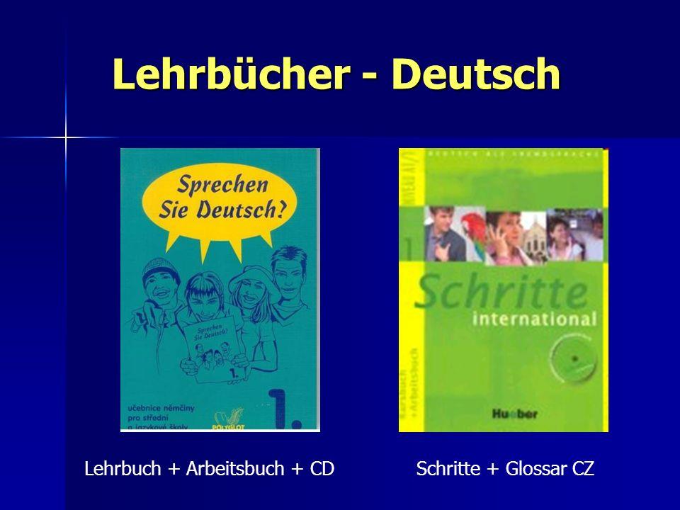 Lehrbücher - Deutsch Lehrbuch + Arbeitsbuch + CD Schritte + Glossar CZ