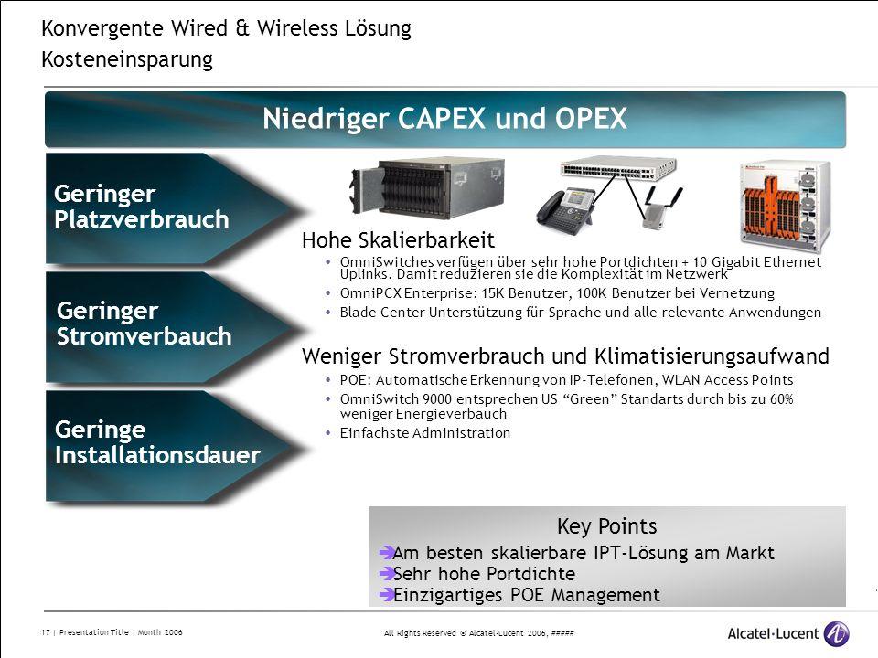Niedriger CAPEX und OPEX