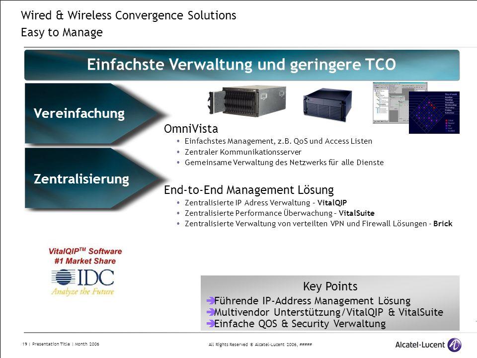 Einfachste Verwaltung und geringere TCO