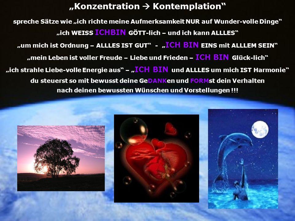 """Konzentration  Kontemplation"