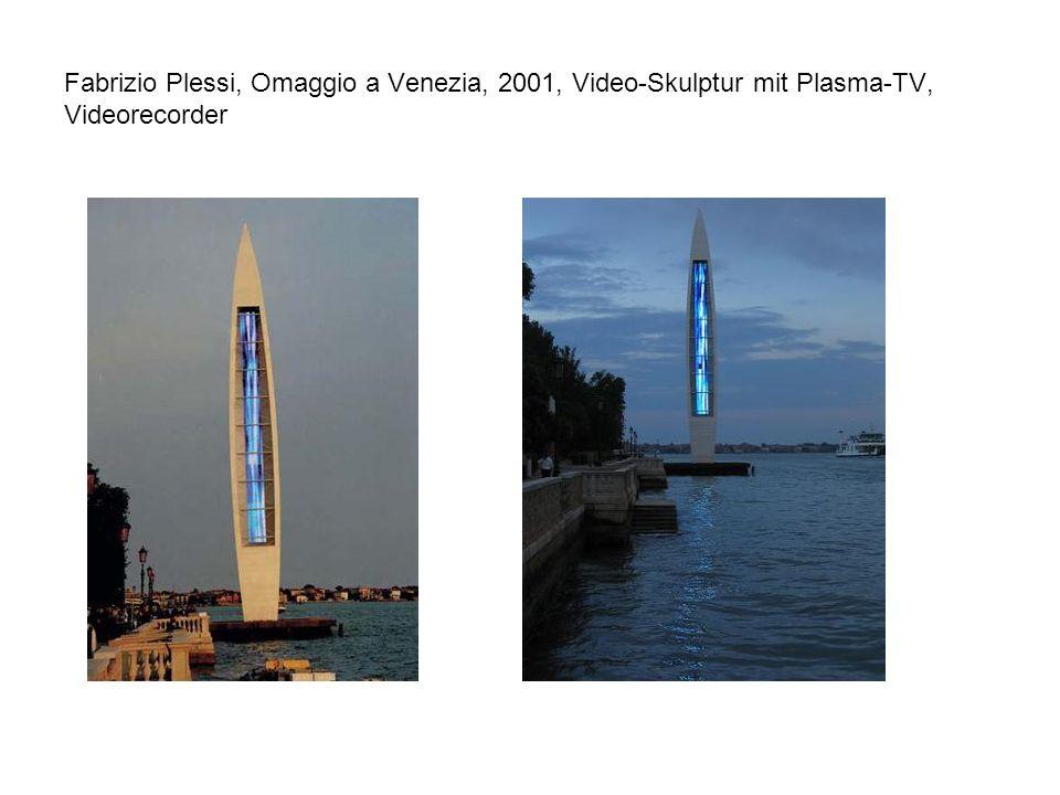 Fabrizio Plessi, Omaggio a Venezia, 2001, Video-Skulptur mit Plasma-TV, Videorecorder