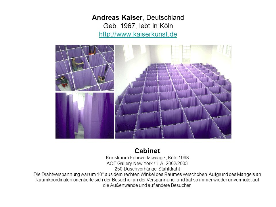 Andreas Kaiser, Deutschland Geb. 1967, lebt in Köln http://www