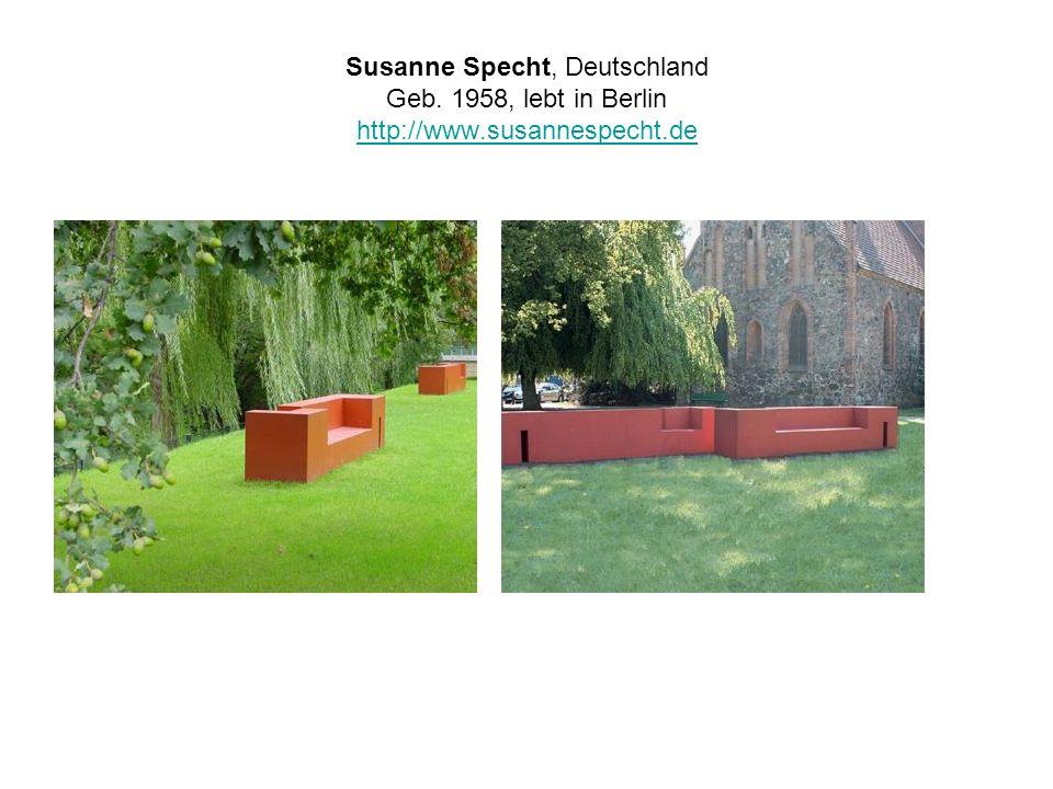 Susanne Specht, Deutschland Geb. 1958, lebt in Berlin http://www