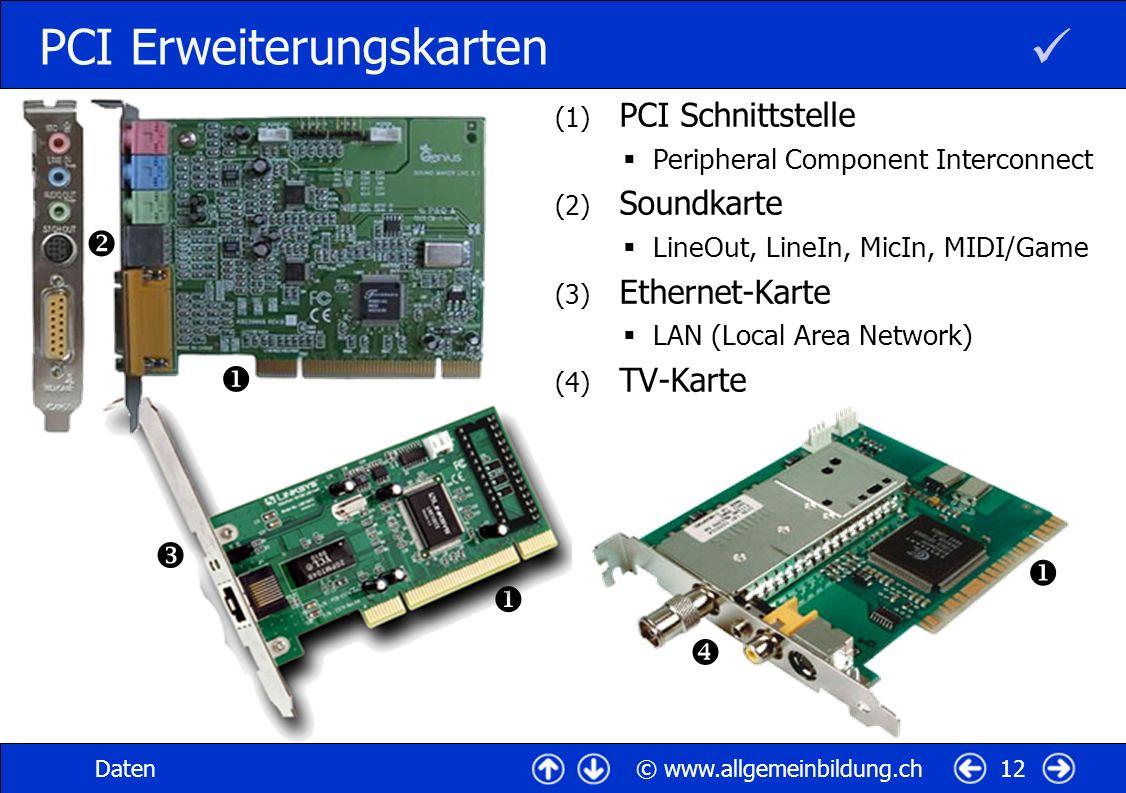 PCI Erweiterungskarten