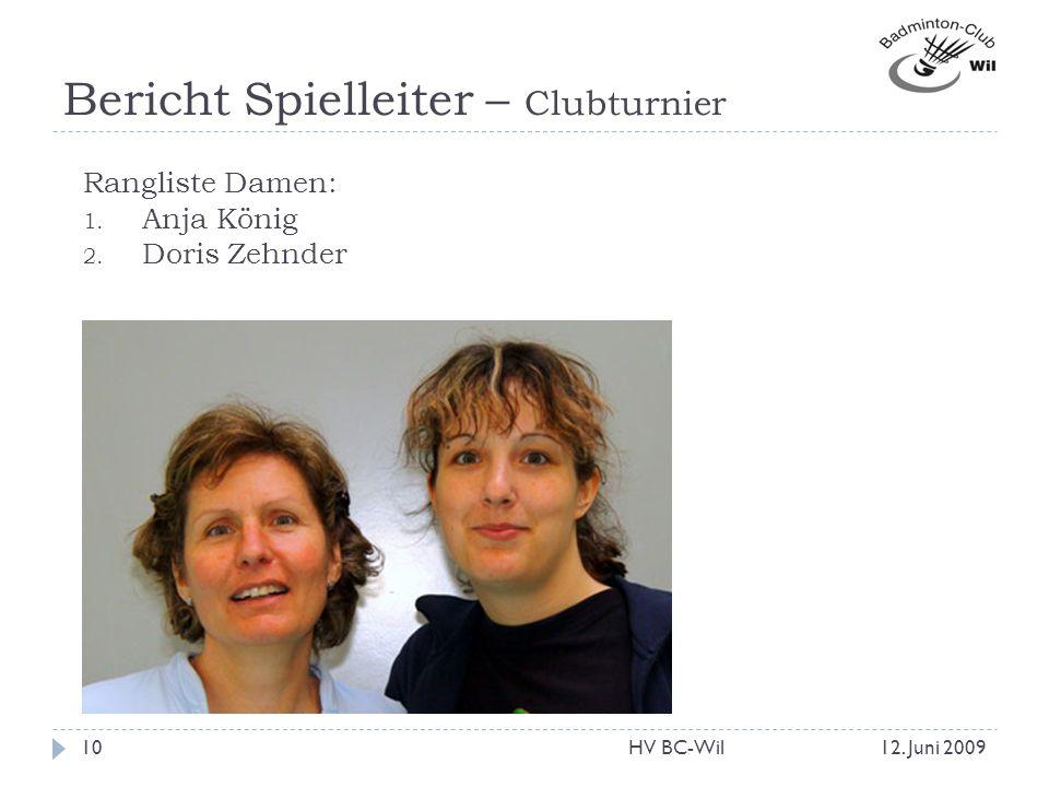 Bericht Spielleiter – Clubturnier