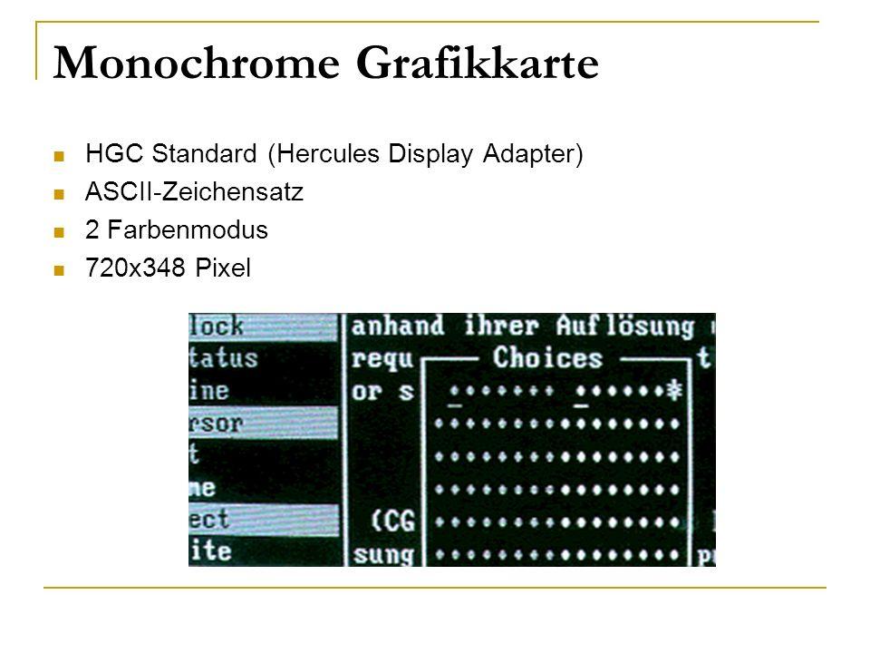 Monochrome Grafikkarte